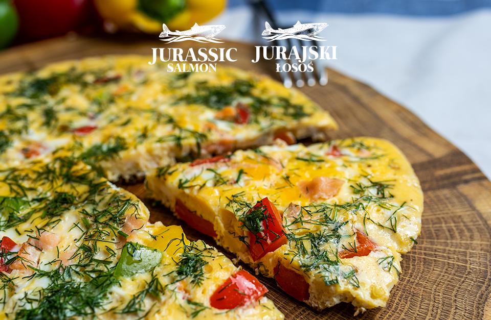 omlet z łososiem Jurajskim